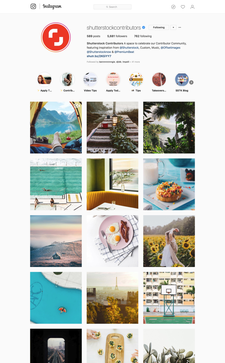 Shutterstock promotional photos for their contributors forum