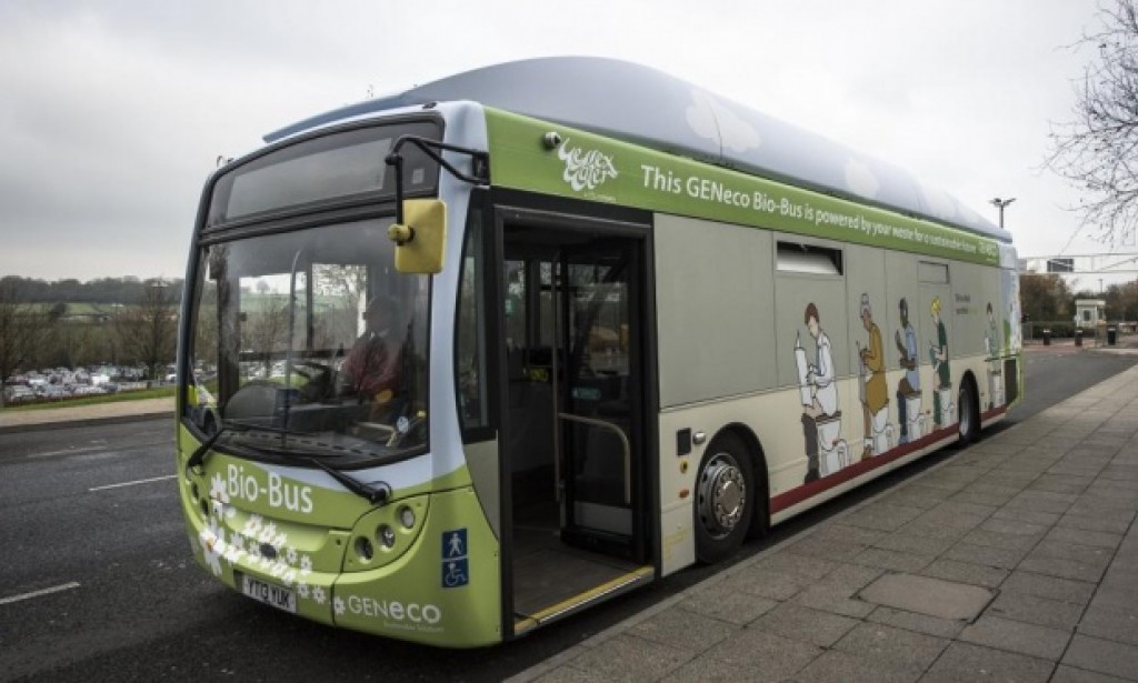 Bio bus the first bus powered by human faces