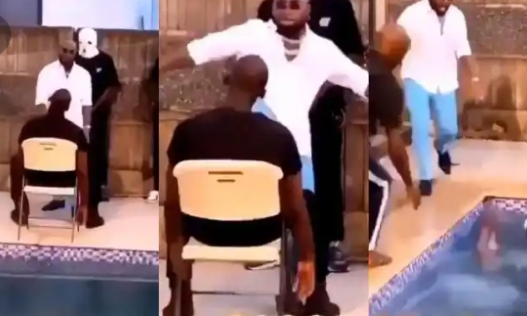 Davido saves crew member who almost who almost drowned while shooting video