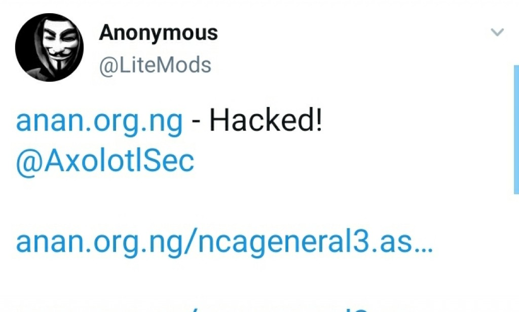 See What Hackers Post on Nigerian College of Accountancy website After hacking anan.org.ng