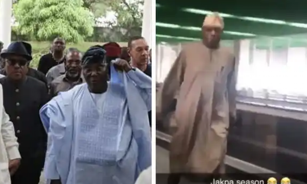 #Endsars protest: obasanjo captured on a video running away from the country