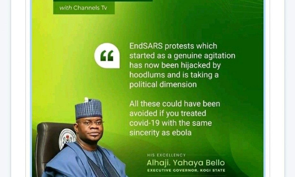Kogi state governor react to general problems in the country.