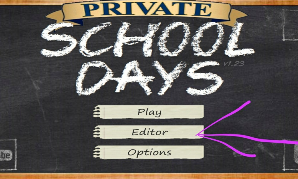 School Days Version 1.232 Mod Unlocked Editor Apk