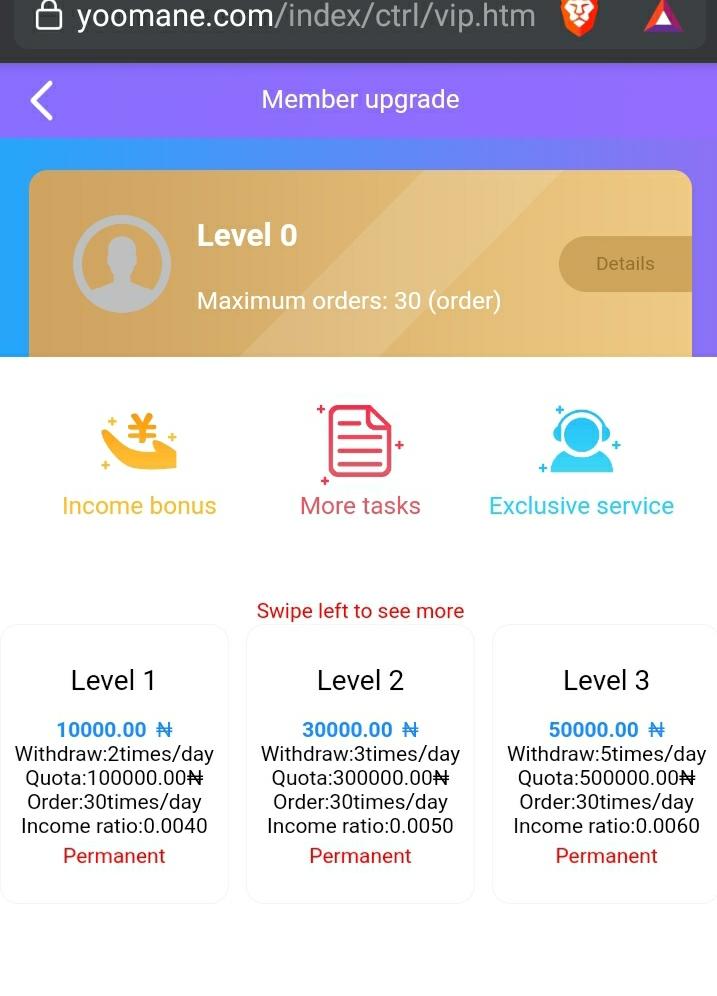 Yoomane.com levels