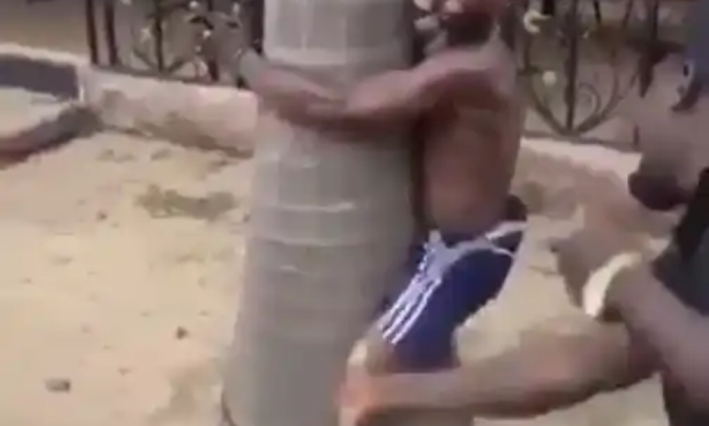 Check out What they did to a man that was beating his mother mercilessly